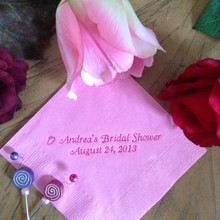 Paper-Napkins Cocktail-Dinner Luncheon Text Guest Custom Towel Bridal-Shower Beverage