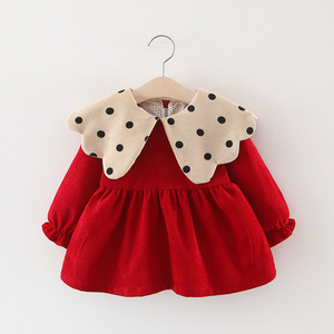 Baby Dress 2019 Spring Autumn Winter Baby Girls Princess Dress For Baby Infant 1 Year Birthday Party Dresses Newborn Clothes(China)