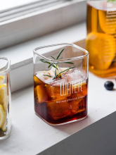 Square Drinking Glass Mugs Heat Resistant Tea Cups Water Glass Beer Glass Transparent Juice Mug Cocktail Glass Milk Cup fashion free shipping lead free crystal handmade blown beer glass beverage juice cup household large capacity drinking utensils