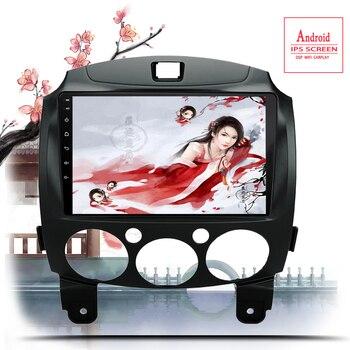 9 pulgadas Android 10,0 2 Din Dvd reproductor de vídeo Multimedia para coche Mazda 2 2007-2014 2din autorradio GPS navegador estéreo Radio Wifi