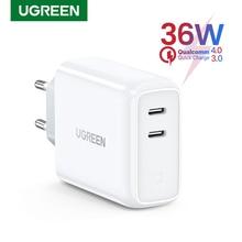 Ugreen cargador USB tipo C para móvil, dispositivo de carga rápida 4,0 3,0, PD36W, para iPhone 11 Pro, XS, Macbook, iPad, QC 3,0, Huawei