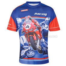 Motocross Motorfiets Moto Racing Gp Mx Off-Road Bike T-shirt Voor Honda Ras Blauw Jersey(China)