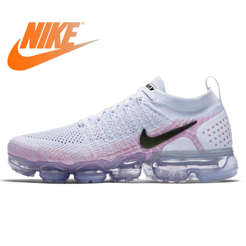 Official Original NIKE Air Max Vapormax Flyknit Women's Running Shoes Sneakers Low Top Whole Palm Cushioning Breathable 942843