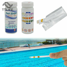Tub Water Quality Swimming Pool Test Paper 3-In-1 Residual Chlorine PH Value Alkalinity Hardness Test 50 Strips A Bottle test car model lib pool 40 thread 1