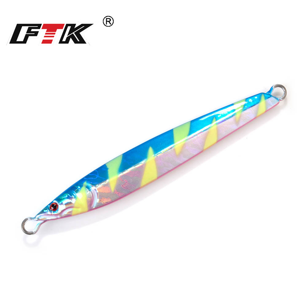 FTK 1pc <font><b>Jigging</b></font> Lead <font><b>Lure</b></font> Luminous 100g 120g <font><b>150g</b></font> 200g 250g 300g Metal Cast Jig Shore Casting Fish Sea Bass Fishing <font><b>Lure</b></font> image