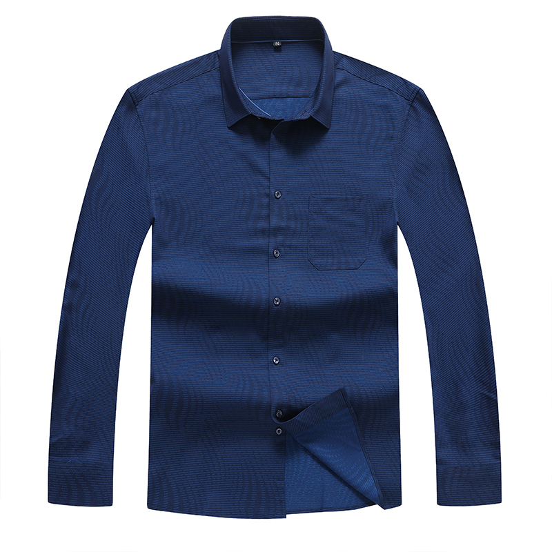 8XL 7XL Plus Size Men Long Sleeve Shirts Male Striped Classic-fit Comfort Soft Casual Button-Down Shirt Casual Male Shirt Tops