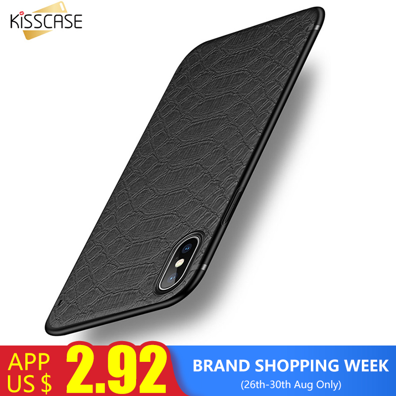 KISSCASE Fundas de teléfono de moda para iPhone 8 7 7 Plus Funda de cuero de lujo para iPhone X XS MAX XR Funda para iPhone 6 6 S