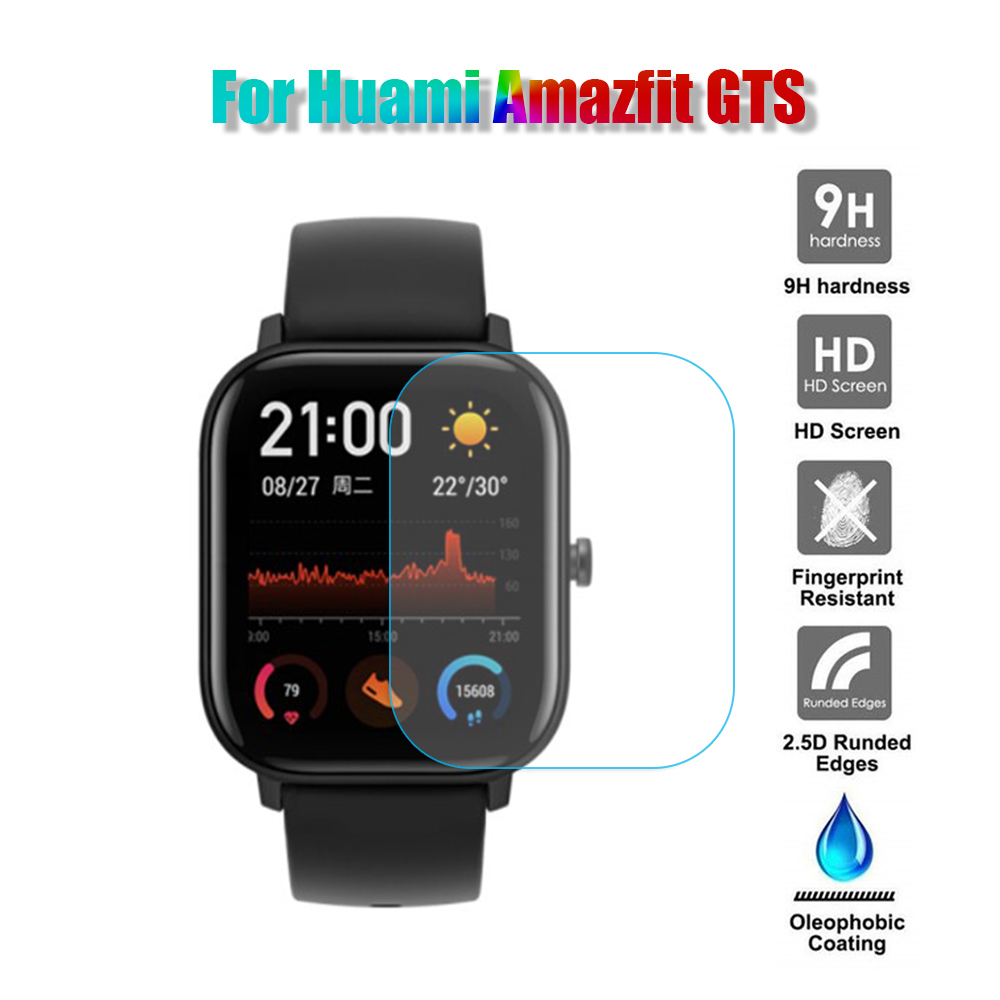 1Pc New Smart Watch Screen Protector Clear Tempered Glass Protective Film Guard For Huami Amazfit GTS Smart Watch Accessories