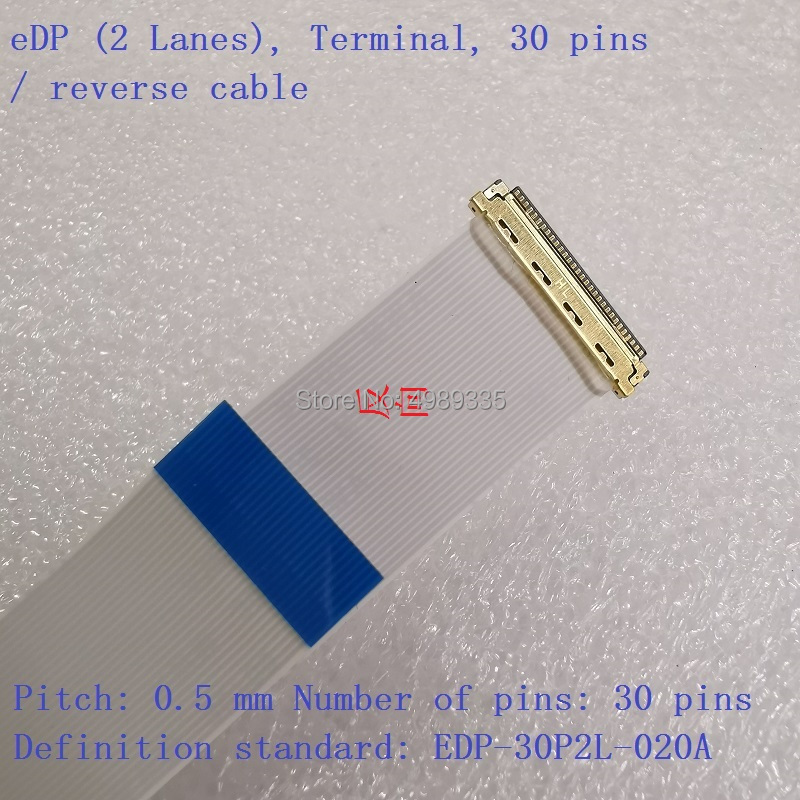 FFC 30P 40P Cable EDP 2 Lanes Terminal Pitch 05 Mm Pins 30 Pins StandardEDP 30P2L 020A