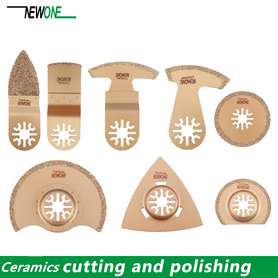 1pc NEWONE Carbide Oscillating Saw Blades Tile Prorous Concrete Cement Ceramics Cutter For Universal Multi-tool Fein Makita Etc.