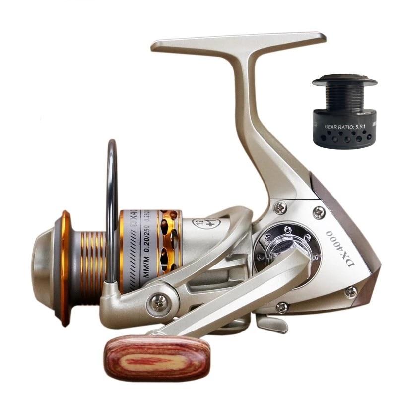 Dviguba ritinė žvejybos ritė medinė rankena 12 + 1BB verpimo - Žvejyba - Nuotrauka 1