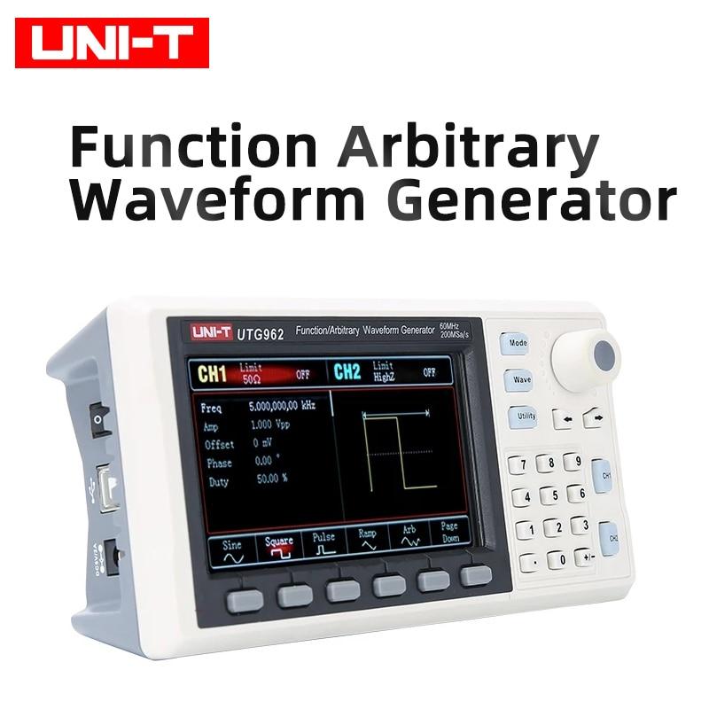 UNI-T UTG962 Функция генератор сигналов произвольной формы сигнала источник двухканальный 200 мс/с 14-bit счетчик частоты 30 МГц 60 МГц