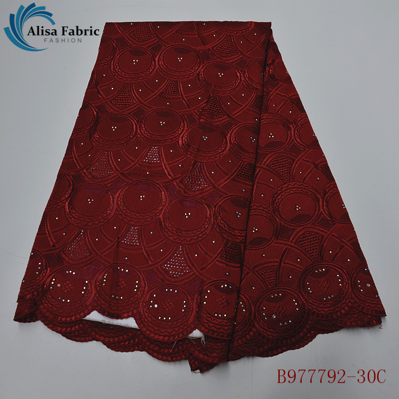 Alisa Swiss Voile Lace Fabric With Embroidery 2020 Latest Style African Cotton Lace Fabrics For Sewing Wedding Dress B977792-30C
