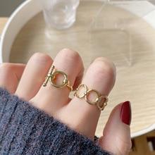 Новый дизайн 14K настоящее золото металл простой кольцо OT пряжка модный открытый дизайн Cz кольцо для женщин