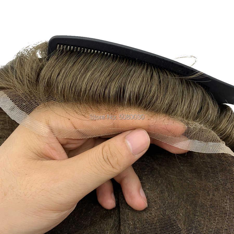 أفضل بائع لديها في الأوراق المالية جودة السويسري باروكة شعر شريطي شعر مستعار رجالي