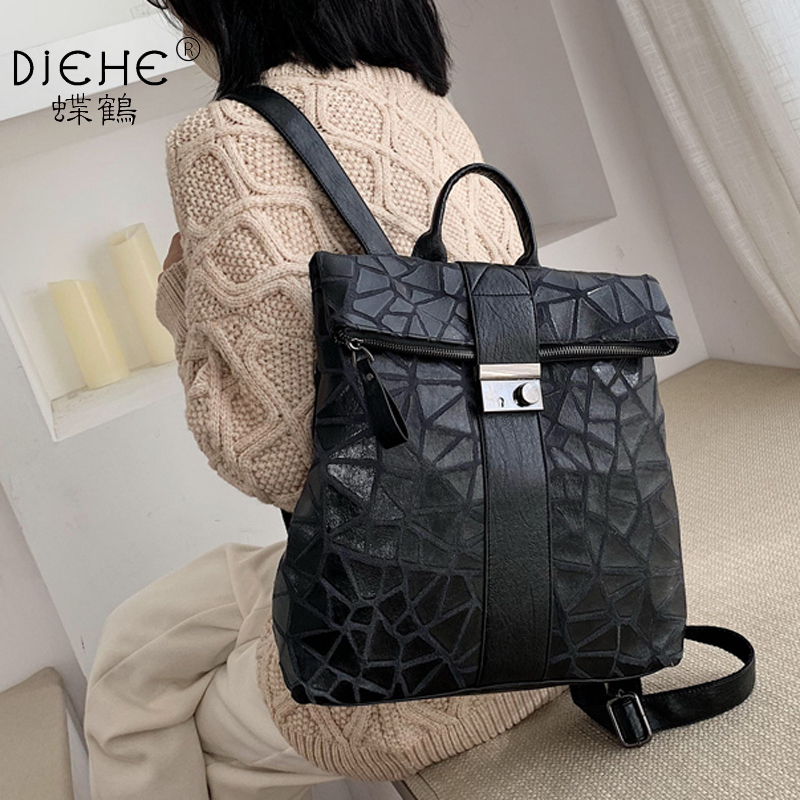 England Style Female Backpack Big Capacity Soft Pu Leather Women Backpack Casual College School Bag Vintage Classic Shoulder Bag