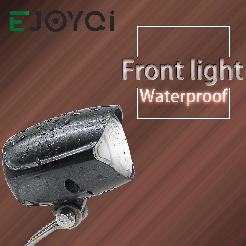 EJOYQI E-bike Headlight 36V 48V Compatible QD151 Front Light 150 LUX Button Trumpet Button Light Speaker Function EBike Light