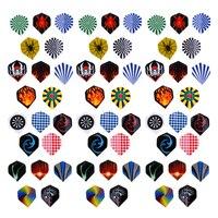 Dardos voladores de plástico para mascotas, plumas de dardo estándar, profesionales y duraderas, accesorios para dardos, 60 piezas (3 juegos)