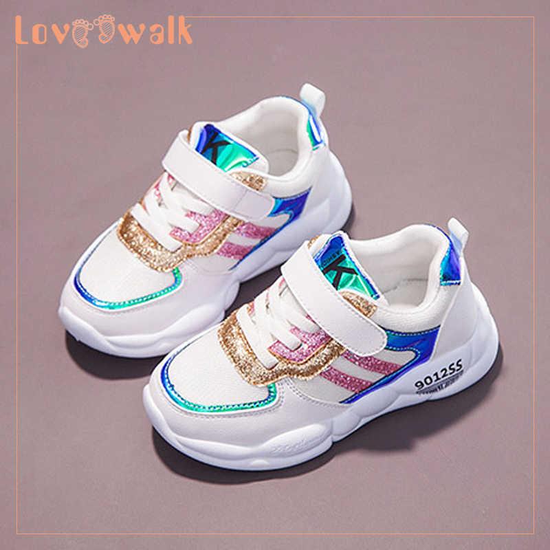 Kids Designer Shoes Glitter Sneakers