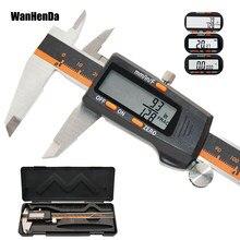 150mm digital fração pinça ferramenta de medição 6 polegada eletrônico metal aço inoxidável pinça vernier mm/polegada/fração