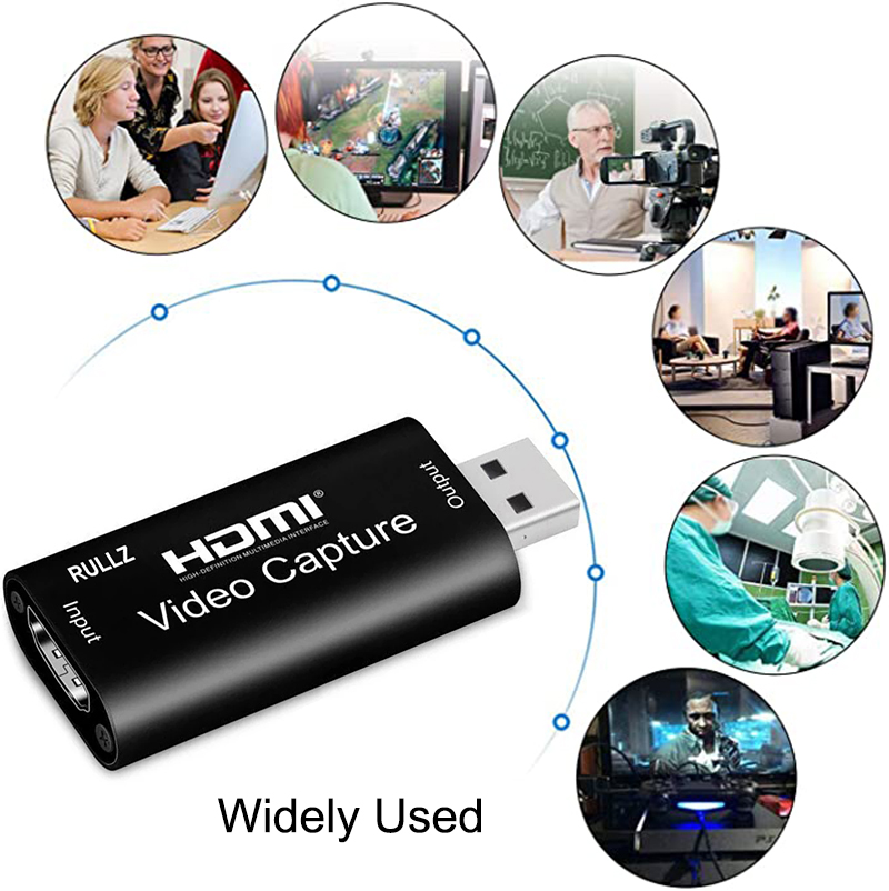 4K INPUT Video Capture Card USB 3.0 1080P Game Grabber HDMI-compatible Capture Card for Youtube Live Streaming Plate Broadcast 4