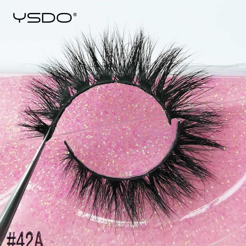 YSDO 1 paar 3D Nerz Wimpern Cruelty free Wimpern Make-Up Dramatische Falsche Wimpern Flauschigen Volle Streifen Dicken Nerz Wimpern faux Cils