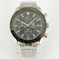 Benyar relógios masculinos marca de luxo esporte quartzo cronógrafo relógio masculino prata ouro relogio masculino frete grátis