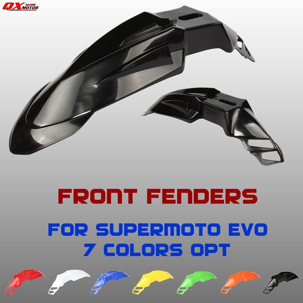 Универсальные черные передние крылья 7 цветов Supermoto Evo для KX DRZ CRF YZF WR Бесплатная доставка