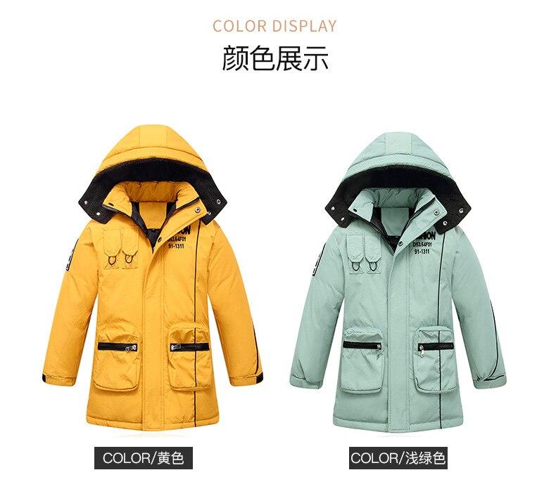 2020 inverno crianças jaqueta de pluma para