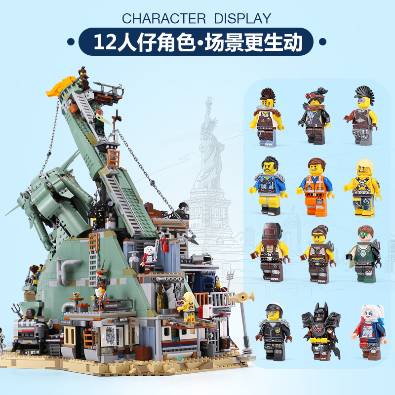 DHL 45014 Movie Toys Series Legoing 70840 Welcome to APOCALYPSEBURG Set Building Blocks Bricks Assembly Kids Toys Birthday Gifts