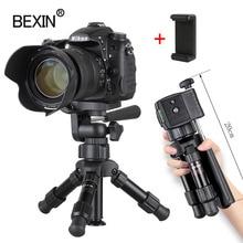Küçük hafif masa kamera tripod telefon standı tutucu taşınabilir masaüstü kompakt cep telefon için mini tripod dslr kamera