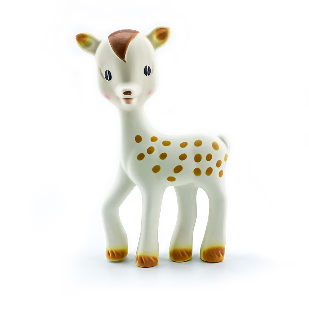 BPA Free Natural Rubber Latex Fanfan Giraffe Teether Soft Baby Teething Toy Pendant Giraffe  The Teether