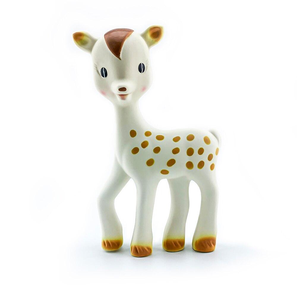 BPA Free Natural Rubber Latex Fanfan Giraffe Teether Soft Baby Teething Toy Pendant Giraffe  The Teether
