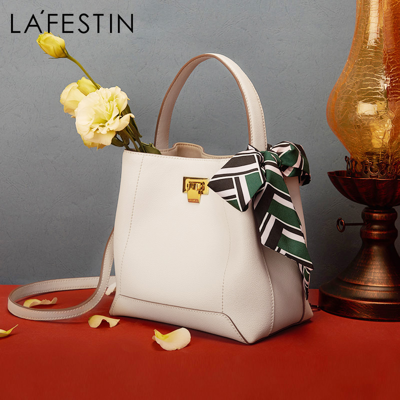 LA FESTIN 2019 New Fashion Bucket Bag Luxury Handbags Women Bags Designer Simple Shoulder Bag Large Capacity Messenger Bag