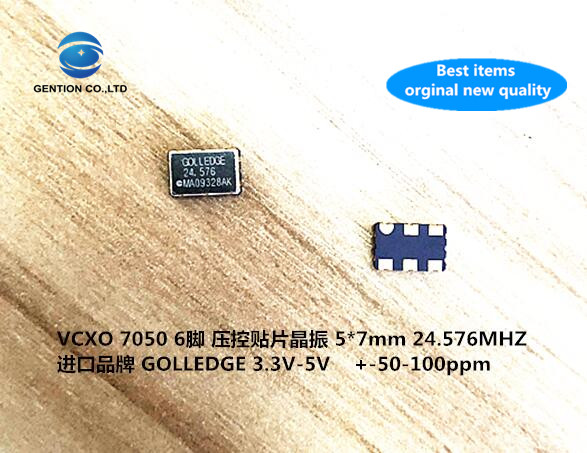 5pcs 100% New And Orginal VCXO 7050 Active Crystal Oscillator Voltage Controlled 6-pin GOLLEDGE Import 24.576M 24.576MHZ