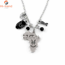 SC New Design Movie Black Panther Necklaces The King Of Wakanda Map Logo Boys Girl Chic Pendant Jewelry