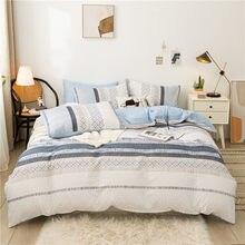 Estilo americano conjuntos de cama, 210 × 210 duvet cover conjunto com fronha, 220 × 240 quilt cover, listra king size cobertura