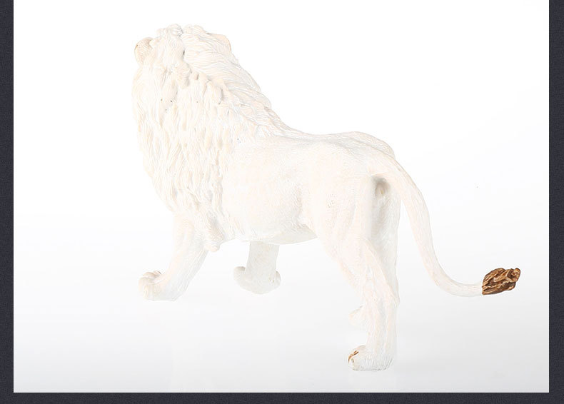 Boutique Animal Model Africa Large White Lion Solid Lion Plastic Toys Children Early Education Garage Kit