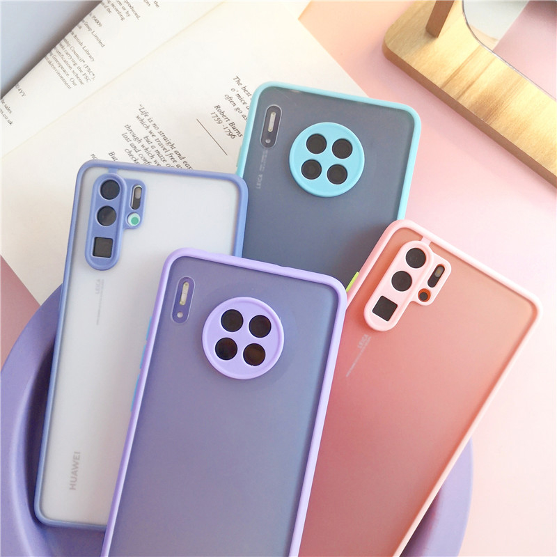Shockproof  Phone Case Back Cover For Huawei P40 Pro Luxury Translucent Soft Case For Huawei P40 P30 Pro Mate 30 20 Pro Case (22)