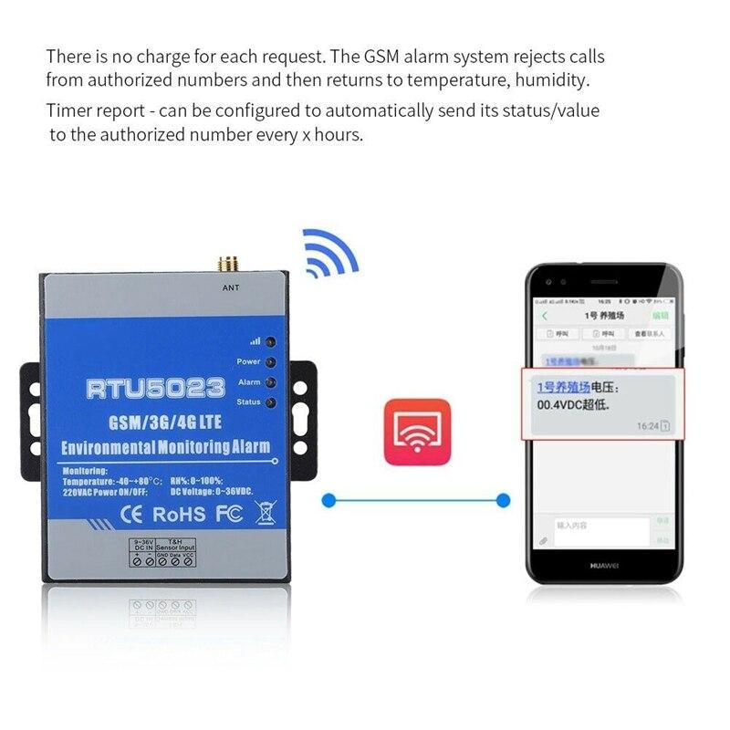 Gsm monitor de umidade temperatura ac dc