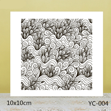 ZhuoAng Wave Background Clear Stamps For DIY Scrapbooking/Card Making/Album Decorative Silicon Stamp Crafts zhuoang dense leaves background clear stamps for diy scrapbooking card making album decorative silicon stamp crafts