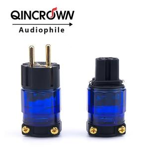 FI-11M-N1 / FI-11-N1 (G) power plug 24k gold-plated IEC connector plug 1 set / 2 15 a / 125 v high fidelity MATIHURus