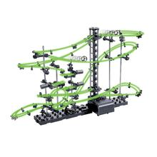 Rail Level 2/3 DIY Educational Toys for kids boy Physics Space Ball Rollercoaster Powered Elevator Model Building Kits