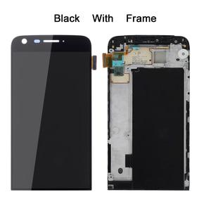 Image 1 - Exibição Para LG G5 LCD Tela de Toque com Digitador Quadro Para LG Display LCD Tela De Substituição Para LG G5 G5 5.3 H850 AAA