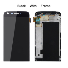תצוגה עבור LG G5 LCD מסך מגע עם מסגרת Digitizer עבור LG G5 LCD החלפת מסך עבור LG G5 תצוגה 5.3 H850 AAA