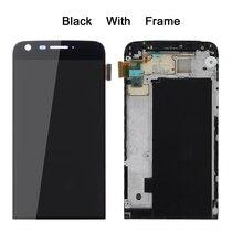 LG G5 Çerçeve ile LCD Dokunmatik Ekran Digitizer LG G5 LCD Ekran Değiştirme LG G5 Ekran 5.3 H850 AAA