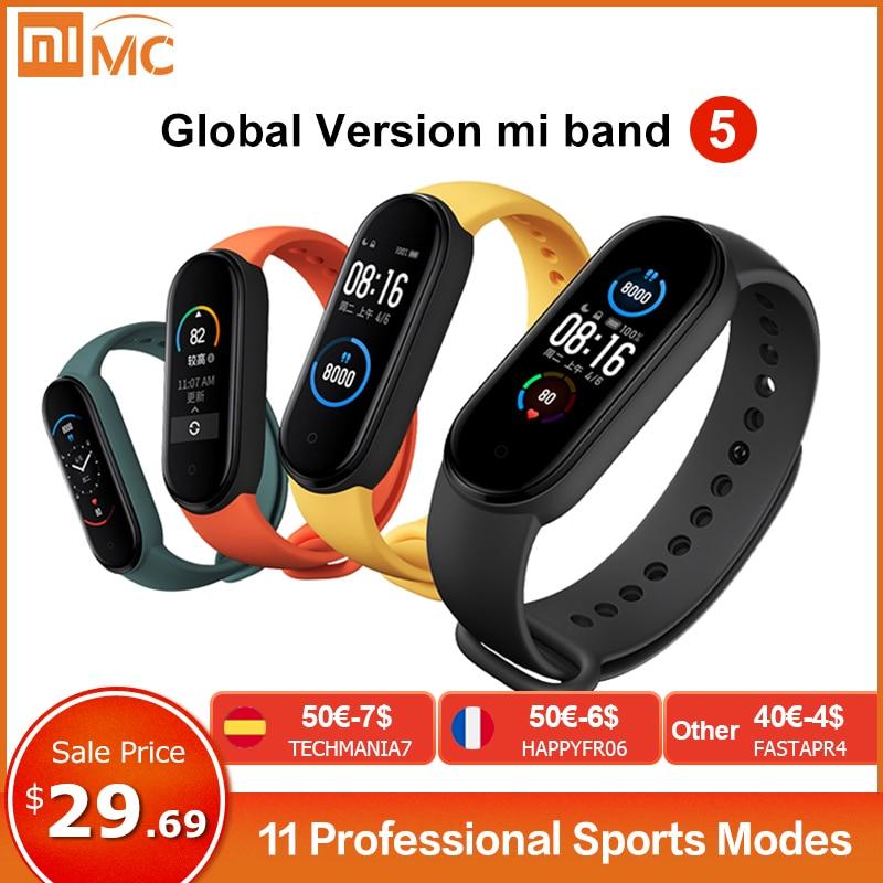 Xiaomi Mi Band 5 Smart Bracelet 4 Color AMOLED Screen Miband 5 Smartband Fitness Tracker Bluetooth Sport Waterproof Smart Band|Smart Wristbands| - AliExpress