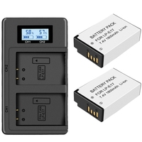 FULL 2Pc Lp E17 Battery+Lcd Usb Dual Charger for Canon Eos 200D M3 M6 750D 760D T6I T6S 800D 8000D Kiss X8I Cameras