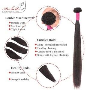 Image 5 - חבילות עם סגירה פרואני ישר שיער חבילות עם 2*6 סגירת רמי שיער טבעי מארג ארבלה סגר עם חבילות