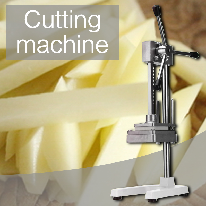 Commercial Vertical Cutting Machine Cucumber Radish Cutting Device Stainless Steel Manual Cutting Fries Machine